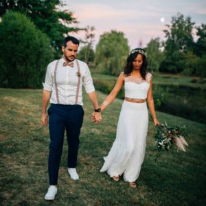 Mariage boho aux Jardins de Coursiana