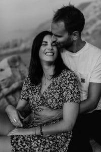 Coucher de soleil à Bidart une Séance couple à Pays Basque | Remember Happiness Photographie